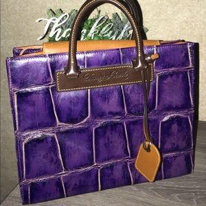 Dooney & Bourke Janine Satchel Croc / Purple